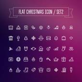 Set of flat Christmas icons — Stock Vector
