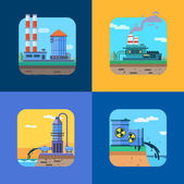 Ecology Concept Vector Icons Set for Environment. — Stock Vector