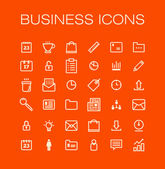 Vector business universal Outline Icons For Web and Mobile. — Stock Vector