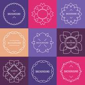 Set of  Elegant lineart logo design elements — Stock Vector
