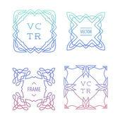 Trendy Retro Vintage Insignias Bundle. — Stock Vector