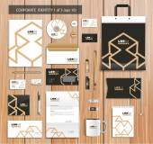 Vector artistic corporate identity template with color elements. — Stock Vector