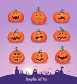 Set pumpkins for Halloween — Stock Vector