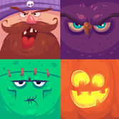 Happy halloween. Set of  Halloween characters — Stock Vector