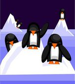 Pingviner — Stockvektor
