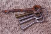 Bunch of old keys — Stock Photo
