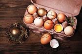 пасхальная композиция с яйцами — Стоковое фото