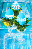 Easter composition with eggs — Stock Photo