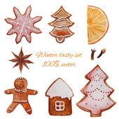Christmas holiday sweets set — Stock Vector