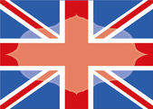 British flag frame — Stock Vector