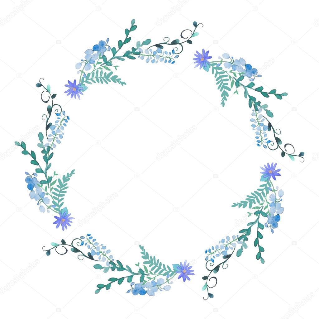 Floral Wreaths Clipart Flower Wreath Clip Art Mint Violet