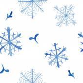Winter snow seamless pattern — Stock Vector