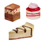 Watercolor sweets set — Stock Vector