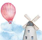 Watercolor Netherlands background — Stock Vector