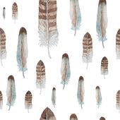 Birds feathers pattern — Stock Vector