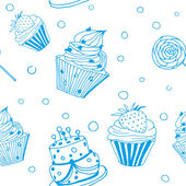 Cakes background — Stock Vector