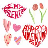 Valentine's Day objects set — Stockvector