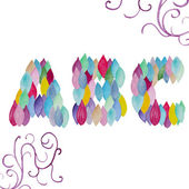 Watercolor ABC letters set — Stock Vector