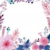 Fondo floral acuarela — Vector de stock