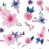 Watercolor floral pattern — Stock Vector