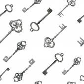 Vintage keys pattern. — Stock Vector