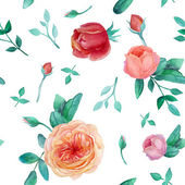 Watercolor roses pattern — Stockvector