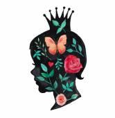 Graphic Princess art — Stock Vector