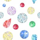 Watercolor diamonds seamless pattern — Stock Vector