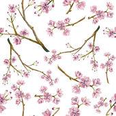 Watercolor sakura pattern — Stock Vector