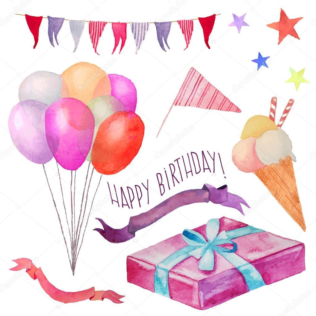 Нарисованные открытки на день рождения фото