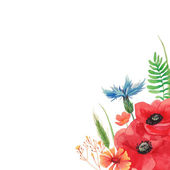 Watercolor summer background — Stock Vector
