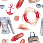 Watercolor Sea style fashion pattern — Stock Vector #67821175
