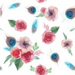 Watercolor shabby chic seamless pattern — Stock Vector #69208627