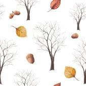 Watercolor tree pattern. — Stock Vector