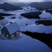 Zimní domek — Stock fotografie