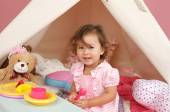 Pretend Play Tea Party at home with a TeePee Tent — Photo
