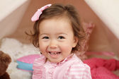 Happy Toddler Girl Laughin and Smiling — Stock Photo