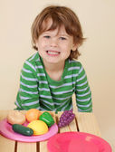 Child Cooking Pretend Food — Stock Photo