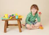 Child with Food, Nutrition concept — Stock Photo