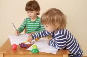 Children Writing, School Education — Stock Photo