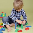 Child Playing with Blocks — Stock Photo #58167165