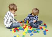 Kids Playing a Game, Sharing and Teamwork — Stock Photo