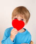 Child Holding a Valentine's Day Heart  — Stock Photo