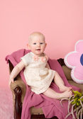 Baby Sitting on Couch — Stock Photo