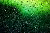 Bright water droplets on glass — Stock Photo