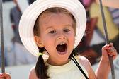 Little girl rejoices — Stock Photo