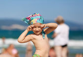 Child in headscarf — Stock Photo