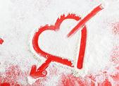 Heart with arrow — Stock Photo