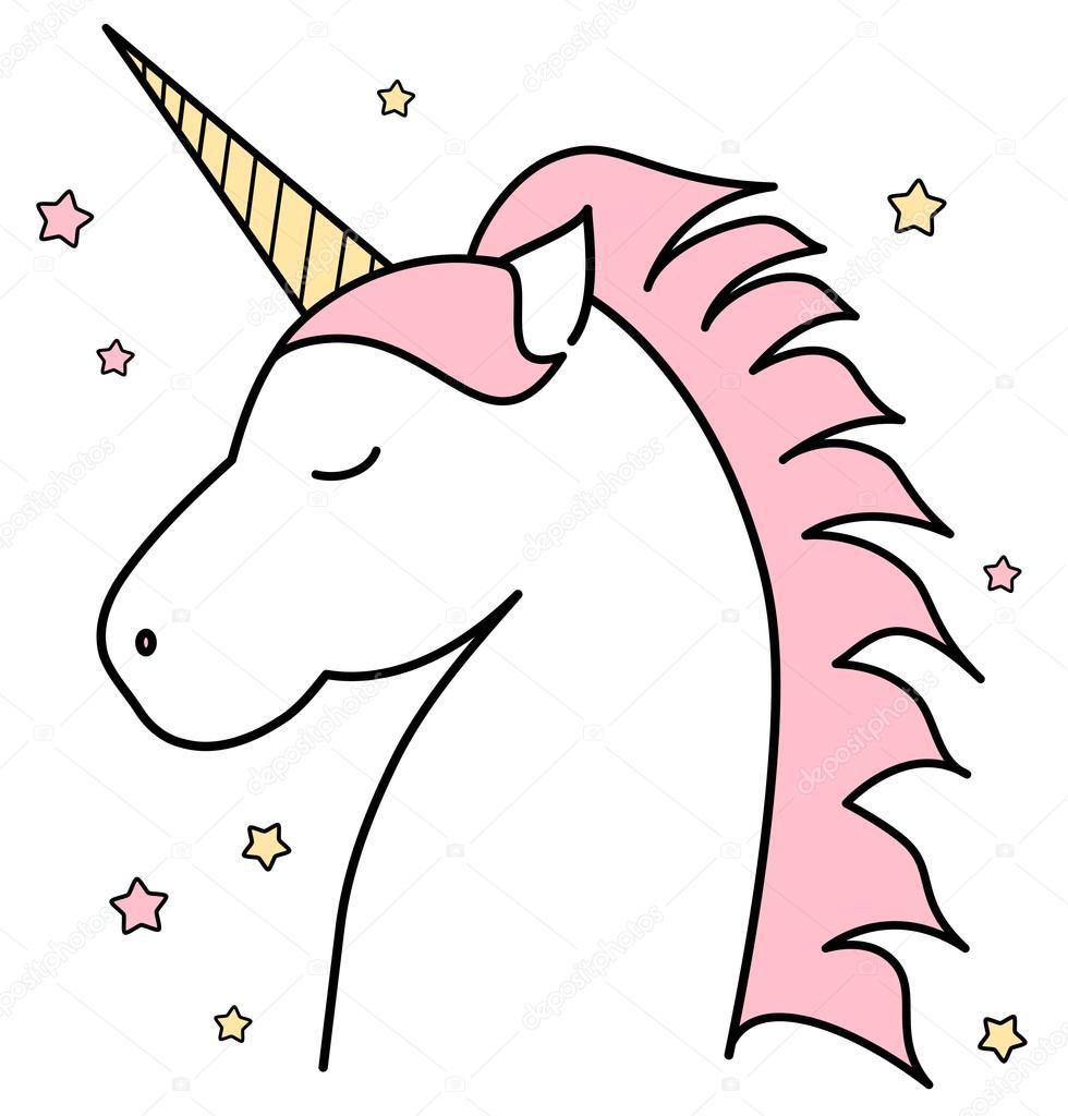 Stock Illustration Cute Cartoon Unicorn Vector Illustration
