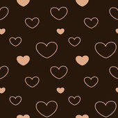 Lovely pastel pink heart seamless vector pattern background illustration — Stock Vector